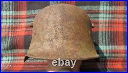 Original-Authentic WW1 & WW2 Relic German 17 Helmet Size-59-60