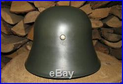 Original-Authentic WW1 & WW2 Relic German 18 Helmet Size-56-57