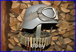 Original-Authentic WW2 WWII Improvisation Lamp Helmet German #1