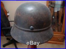 Original-Authentic WW2 WWII Relic German helmet