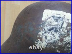 Original German/Finnish WWII WW2 M40 unit marked Combat Helmet