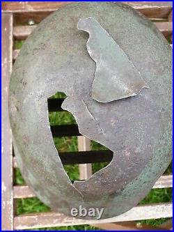 Original German Helmet M35 Relic of Battlefield WW2 World War 2 Number Decal