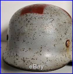 Original German WW 2 Red Cross Helmet
