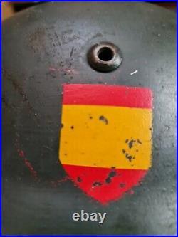 Original German WW2 Helmet M35 Blau Division Spanish Volunteer Single Decal
