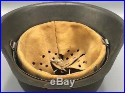 Original German WW2 M42 Mint Prestine Condition Helmet WWII Army Bringback