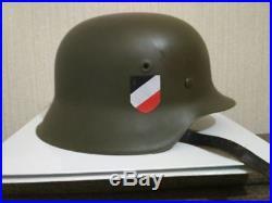 Original German WW2 Steel Helmet M42 Restored Leather Band $700