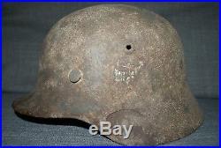 Original German WW2 helmet M40 SZ62 casque stahlhelm casco elmo
