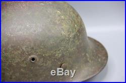 Original German WWII 2 Tone Camouflaged M40 Luftwaffe Helmet WW2