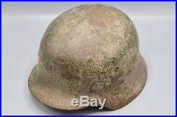 Original German WWII 3 Tone Normandy Camouflaged M35 Helmet WW2