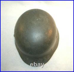 Original German WWII Army Heer M40 Named Single Eagle Decal Helmet Q64 M4746
