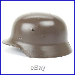 Original German WWII M40 Stahlhelm Steel Helmet- Shell Size 68, Maker Marked