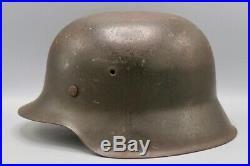 Original German WWII M42 Named No Decal Helmet