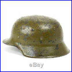Original German WWII M42 Stahlhelm Steel Helmet- Shell Size 68, Maker Marked