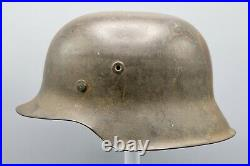 Original German WWII ND M42 Helmet with Leather Chinstrap
