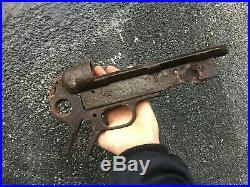 Original German ww2 relic m 40 battle damaged display part, rare no helmet