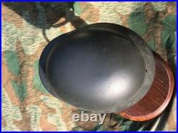 Original M40 WWII German STAHLHELM Helmet m35 Q66 large shell Alexander Restored