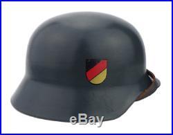 Original Post War Hamburg Police German Steel Helmet double decal Stahlhelm