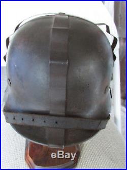 Original Stamped M40 German Camo Band Helmet Liner Chinstrap WW2 Badge Medal Pin