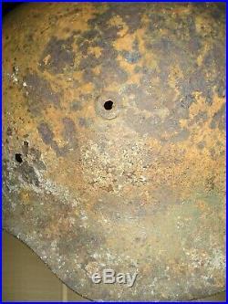 Original WW-II German MA Helmet Shell Found Above UK's D-Day 1944'Gold' Beach
