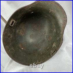 Original WW1 Painted German Helmet M16 M17 M18 Used Wwii Luftwaffe