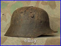 Original WW1 / WW2 Relic German army Steel Helmet M16 type (from Kurland)