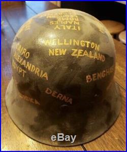 Original WW2 5th Army M42 German Helmet RARE