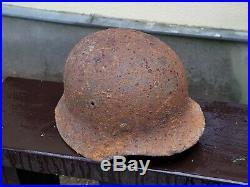 Original WW2 Battlefield Relic German Helmet M40 (with Liner) Signed