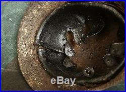 Original WW2 Battlefield Relic German Helmet M42 with Liner (from Kurland)