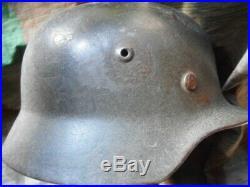 Original WW2 GERMAN ARMY HEER M40 M 40 SD SE64 HELMET AMERICAN VET BRING BACK