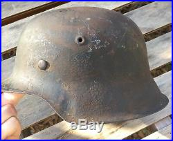 Original WW2 GI War Trophy German M42 WW2 Camo Helmet