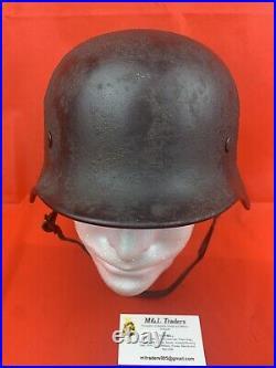Original WW2 German Camo Helmet Wehrmacht 1941 RARE