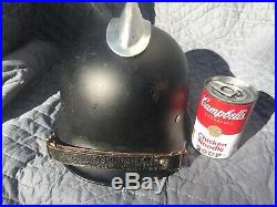 Original WW2 German Fire Fireman's Police Helmet With Comb and Nice Liner NoRsv