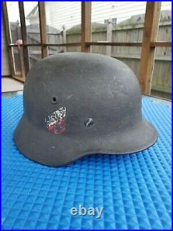 Original WW2 German Heer Helmet M40 Double Decal stahlhelm wwii Army Militaria