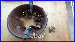 Original WW2 German Helmet Liner size 58 + original chinstrap + 3 rivets