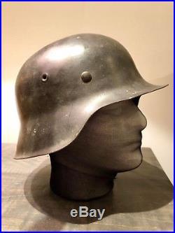 Original WW2 German Helmet M42 Combat Luftwaffe SD Large EF66 Size