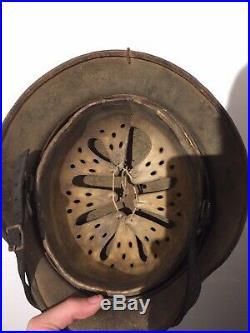 Original WW2 German M35 Luftwaffe Chicken Wire Camo Helmet