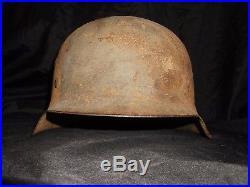 Original WW2 German M42 Helmet Dug From Germany Elite Hat Relic Uniform Cap Pin