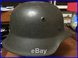 Original WW2 German M42 Helmet Finnish Import Used in Continuation War