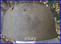 Original WW2 German Paratrooper M38 Helmet Normandy Relic