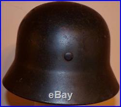 Original WW2 German SD Luftwaffe helmet with liner M40 NICE