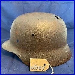 Original WW2 Normandy Relic German Army Wehrmacht Helmet #86