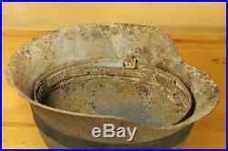 Original WW2 WWII GERMAN M40 Helmet with original Rubber CAMO band