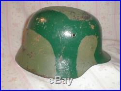Original WW2 WWII German Helmet M 35 Africa Italy