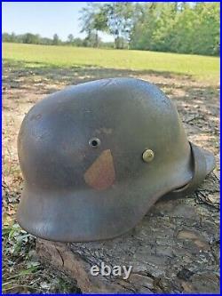 Original WWII German EF66 M35 DD Luftwaffe Helmet