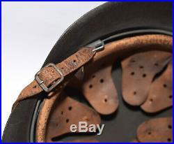 Original WWII German M42 CKL64 Helmet with Double Spliced Liner, Dome Stamp, Strap