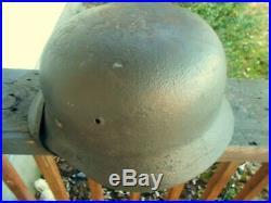 Original WWII German m40 helmet Quist-64