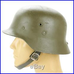 Original WWII Hungarian M38 Steel Helmet (German M35 Copy)- Size 57cm, US 7 1/8