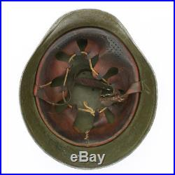 Original WWII Hungarian M38 Steel Helmet (German M35 Copy)- Size 60cm, US 7 1/2