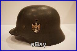 Original WWII M35 German Army Heer Combat Helmet
