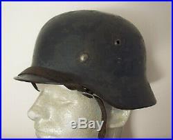 Original WWII / WW2 German steel helmet with liner, chinstrap etc. NAMED